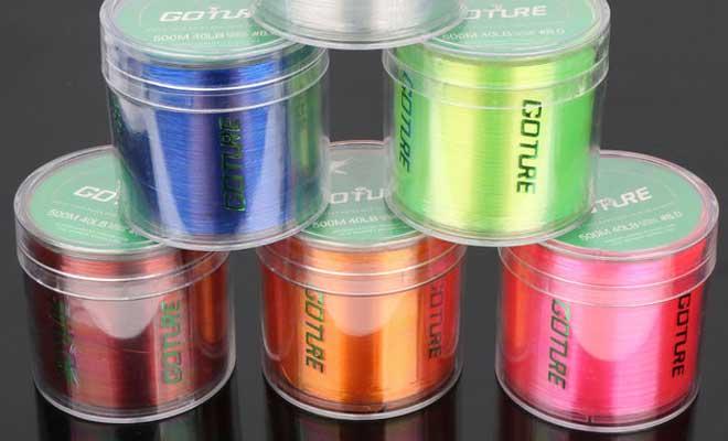 Леска разных цветов